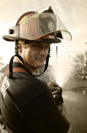 Corpus Christi firefighter and bagpiper Dan Sheppard
