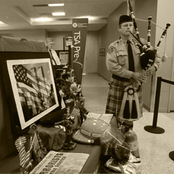 photo of Dan Sheppard playing the pipes