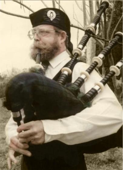 Image of bagpiper John Carpenter